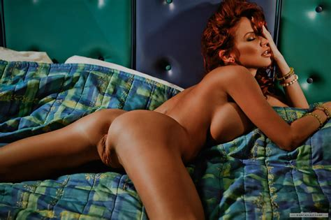Wallpaper Bianca Beauchamp Nude Pussy Bed Sexy Big Tits Ass Spreading Canadian Model