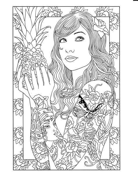 250 best Pin Up Girls Embroidery Patterns images on Pinterest | Adult coloring pages, Coloring