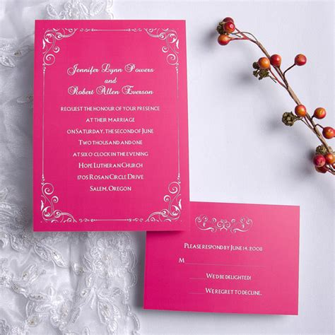 pink wedding invitations pink wedding invitations with free response cards ewi192 as low as 0 94