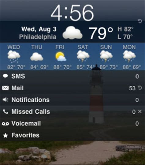 weather on iphone lock screen how can i add customize weather on my lockinfo screen