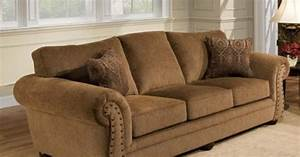 simmons upholstery troy bronze chenille sofa at menards With sectional sofa menards