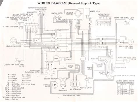 honda cd175 export 1969 wiring schematic 4 stroke net all the data for your honda
