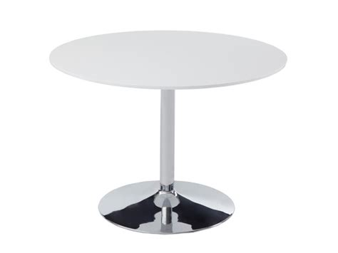 hotte de cuisine blanche table ronde prunelle 4 couverts mdf chrome blanc