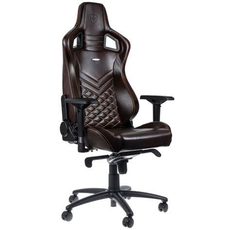 fauteuil bureau cuir marron noblechairs epic cuir marron beige siège pc