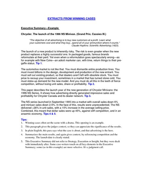 executive summary resume exles resume and cover