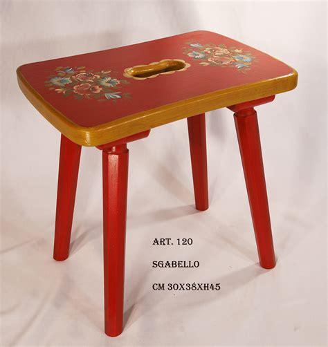 Sedia Sgabello by Sedia A Sgabello In Legno Decorata