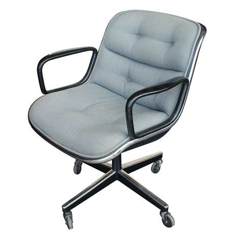 Knoll Pollock Chair Adjustment by 4 Vintage Knoll Pollock Executive Swivel Arm Chairs Ebay