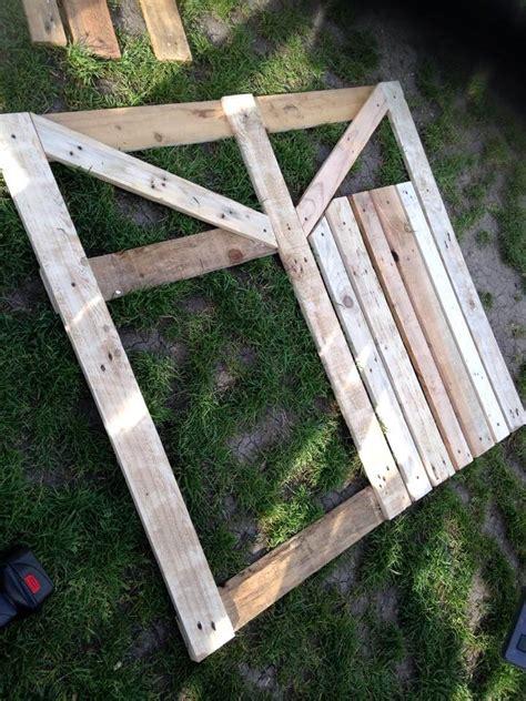diy pallet garden fence gate