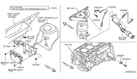 Nissan Cube Engine Diagram by 22693 Zj60a Genuine Nissan Parts