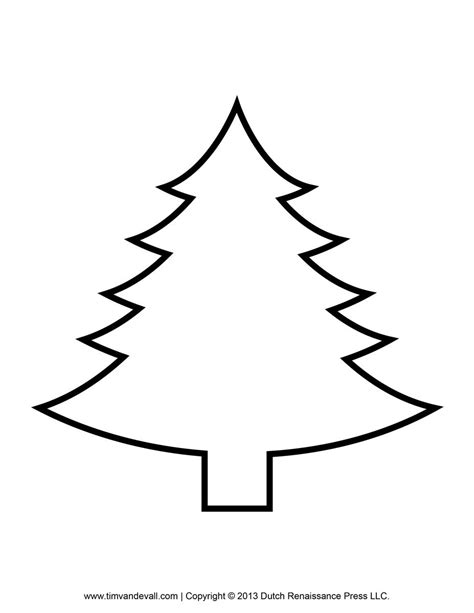 Tree Template Printout by Printable Paper Christmas Tree Template Clip Art Coloring
