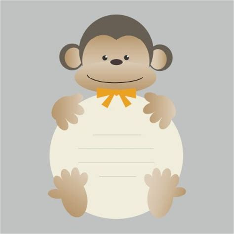 printable monkey baby shower invitations dolanpedia