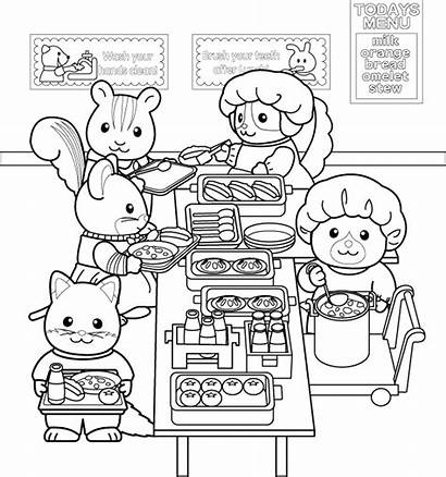 Coloring Critters Pages Calico Sylvanian Families Coloriage