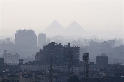 King Hotel Cairo Giza Africa view of city and giza pyramids from cairo citadel cairo