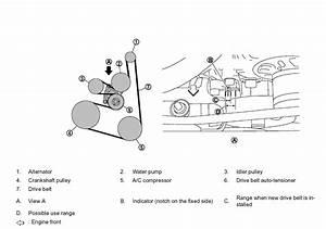 2009 Nissan Rogue Serpentine Belt Diagram