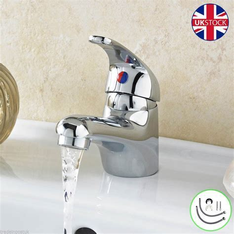 Chrome Mono Basin Mixer Tap & Clicker Plug   Single Lever