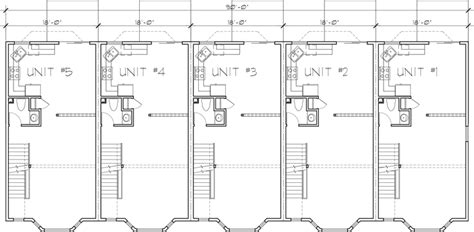 unit house plans  unit townhouse plans  bedrooms fv