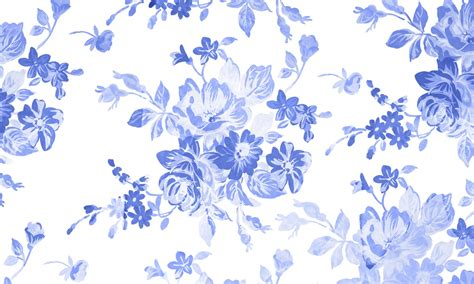 blue and white floor l blue floral watercolor background free stock photo