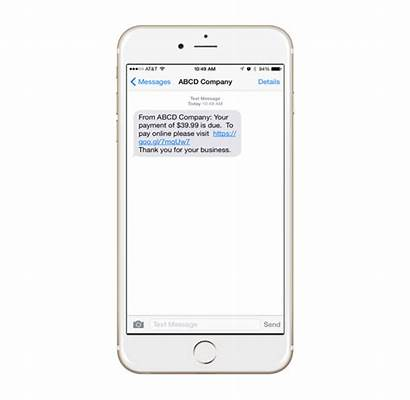 Text Message Payment Due Past Pay Phone