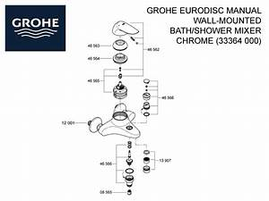 Shower Spares For Grohe Eurodisc Manual Wall