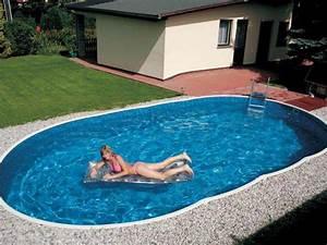 Piscine Semi Enterrée Pas Cher : piscine hors sol acier azuro de luxe ~ Melissatoandfro.com Idées de Décoration