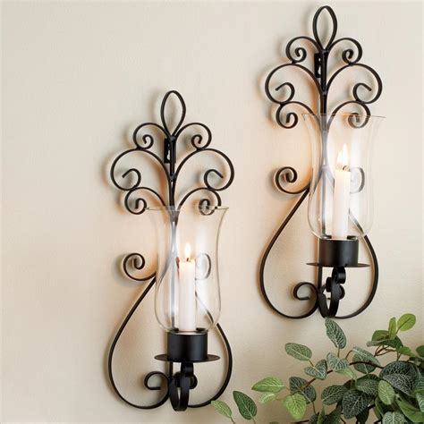 home essentials beyond scroll wall sconces set of 2