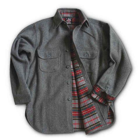 flannel lined wool button shirts johnson woolen mills