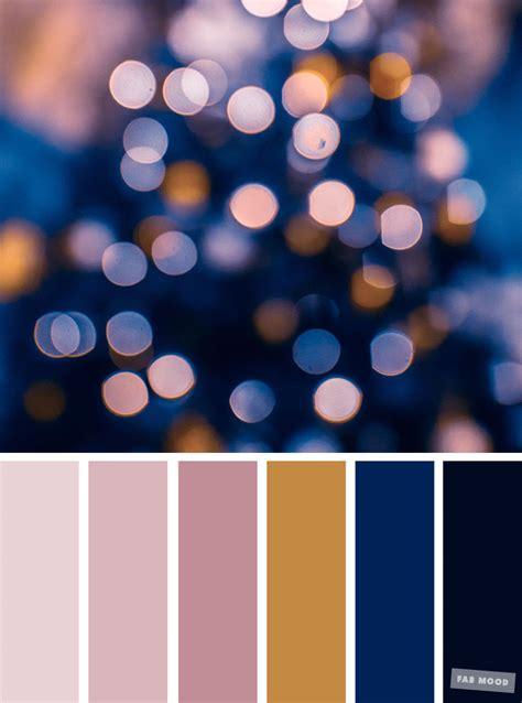 pretty winter color schemes mauve dark blue