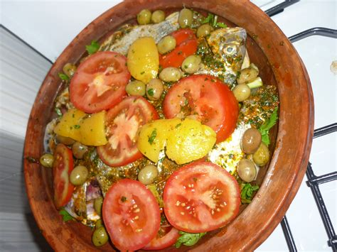tajin moroccan cuisine fish tagine receipe from a true moroccan scrawny