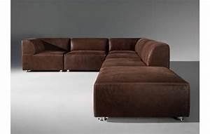 photos canape convertible cuir marron vieilli With canapé cuir marron convertible