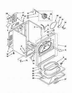 Cabinet Parts Diagram  U0026 Parts List For Model Wed5200vq1