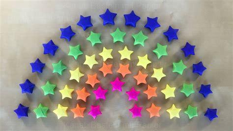 Selber Machen Aus Papier by Regenbogen Deko Origami Basteln Mit Papier