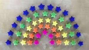 Basteln Mit Papierstreifen : regenbogen deko origami stern basteln mit papier ~ A.2002-acura-tl-radio.info Haus und Dekorationen