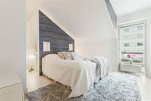 Graue Tapete Schlafzimmer : 55 dachschr ge ideen m bel geschickt im raum platzieren ~ Michelbontemps.com Haus und Dekorationen