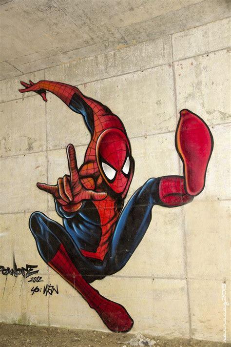 street art  spain spiderman graffiti wall art
