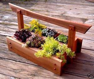 japanese style cedar herb plant caddy planter boxes