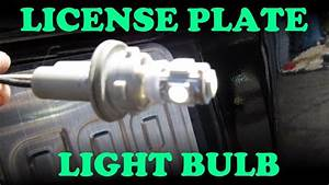 How To Replace A License Plate Light - Toyota