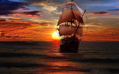 Carib Newsdesk Dem Waves by Pirate Ship Backgrounds Wallpaper Cave