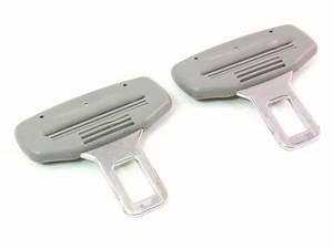 Set Of 2 Male Seat Belt Seatbelt Buckle Clip Vw Jetta Golf
