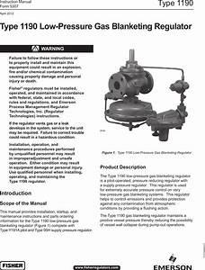 Emerson Type 1190 Low Pressure Gas Blanketing Regulator