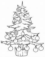 Coloring Tree Christmas Stands Pages Trees sketch template