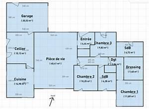 avis plan maison de plain pied 140m2 16 messages With plan maison 6 chambres plain pied