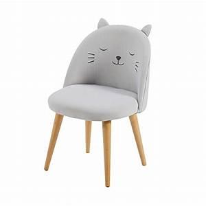 Chaise Jardin Maison Du Monde : chaise enfant gris clair motifs cats maisons du monde ~ Premium-room.com Idées de Décoration