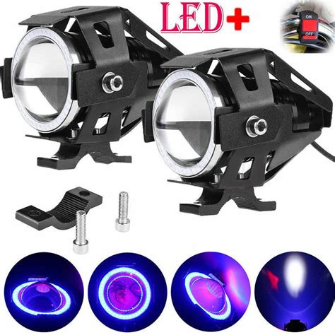 Motorcycle Led Driving Lights 2x 125w motorbike motorcycle u7 led headlight driving fog