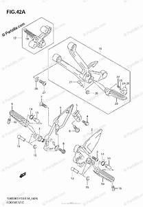 Suzuki Motorcycle 2007 Oem Parts Diagram For Footrest  Model K4  K5  K6  K7