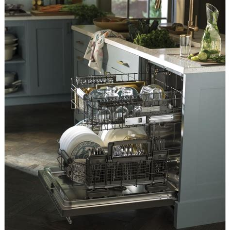 ge zdtssjss monogram   smart built  dishwasher   wash cycles wi fi enabled