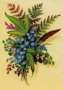 Vintage Floral Print Clip Art