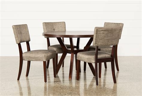 circle dining table set macie 5 piece round dining set living spaces