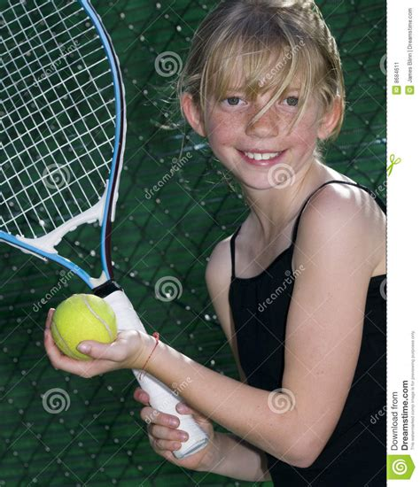 young tennis player stock image image
