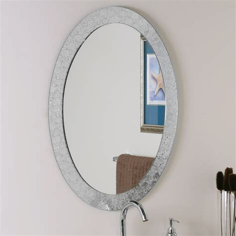 bathroom wall mirror decor ssm5016 4 luxor frameless oval wall