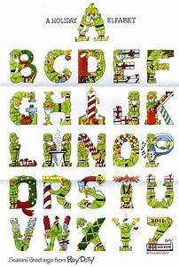 christmas alphabet creative lettering alphabet abc of With holiday alphabet letters